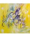 tableau contemporain jaune