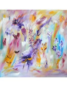 tableau peinture de fleurs
