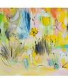 tableau abstrait multicolore de fleurs