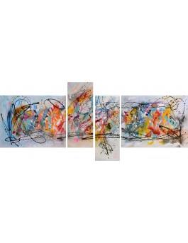 Esthétique - tableau multicolore en 4 parties