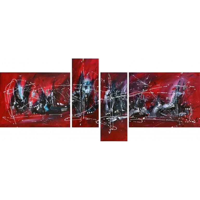 tableau design noir et rouge