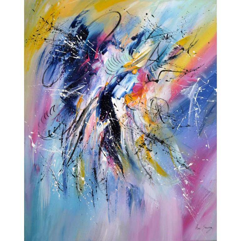 toile multicolore abstraite