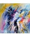 toile multicolore