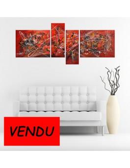 Volcania - quadriptyque rouge