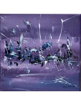 Anti gravité - tableau design violet