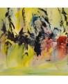 tableau abstrait jaune