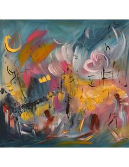 tableau abstrait contemporain moderne