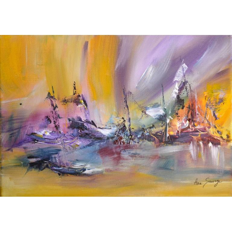 tableau abstrait coloré moderne