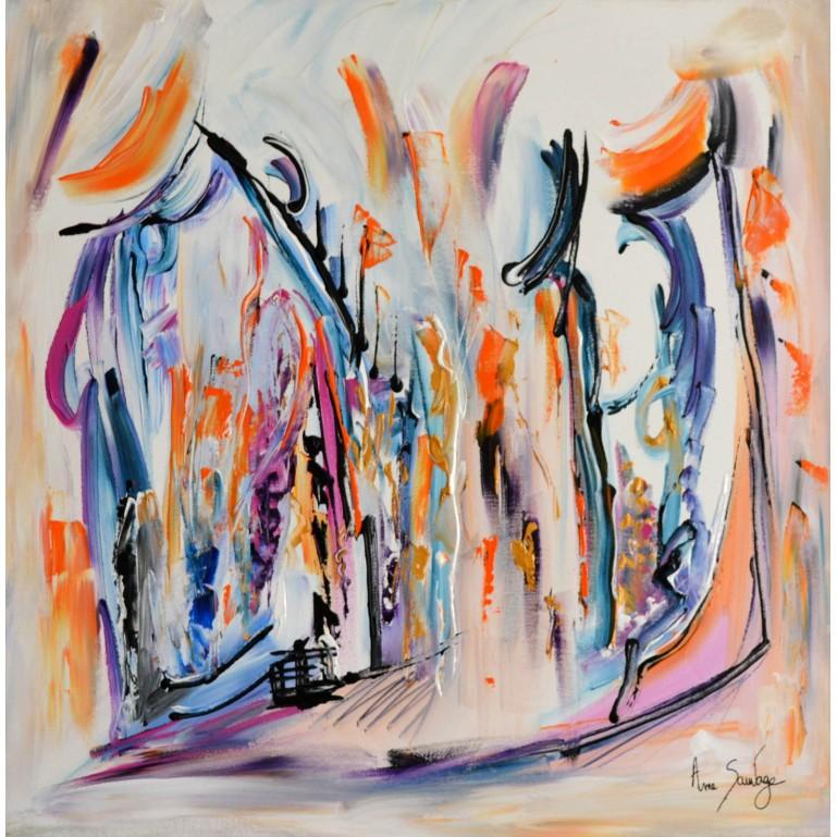 peinture acrylique le monde des anges