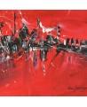 tableau abstrait rouge