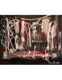 tableau noir blanc rouge