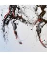 tableau abstrait noir blanc rouge
