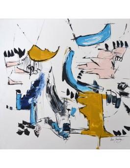 Une drôle d'histoire - tableau abstrait style minimaliste
