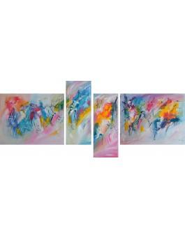 Une nouvelle époque - quadriptyque multicolore en 4 parties
