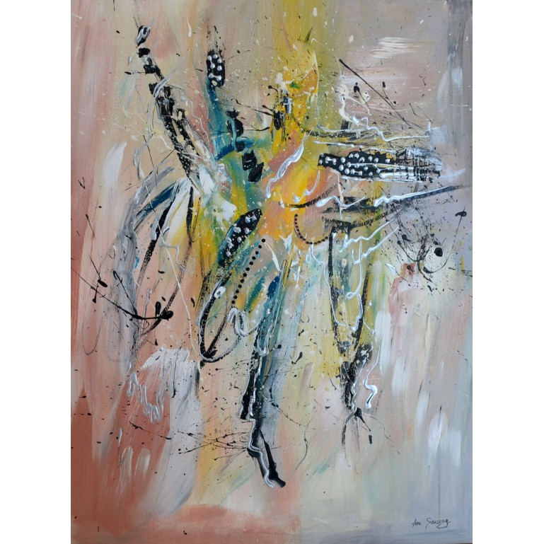peinture abstraite moderne au couteau