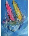 peinture de bateaux - tableau de voiliers en mer