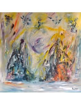 Les vents du royaume - Grand tableau xxl coloré