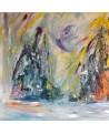 grand tableau abstrait xxl coloré