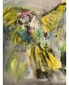 tableau abstrait perroquet