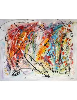 grand tableau multicolore