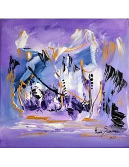 tableau violet mauve la gardienne magnifique
