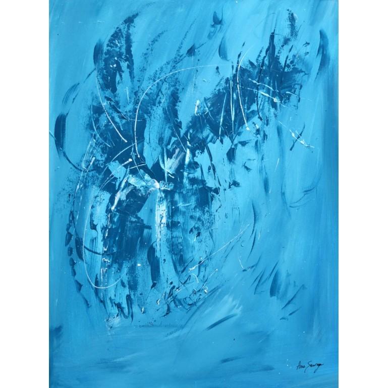 monochrome abstrait bleu