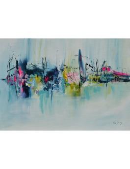 tableau abstrait contemporain artiste peintre
