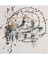 tableau abstrait blanc