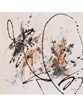 Simplicité - tableau abstrait contemporain blanc