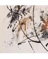tableau abstrait contemporain blanc