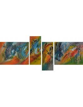 Notes vibrantes - tableau en plusieurs parties multicolore