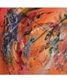 tableau contemporain orange