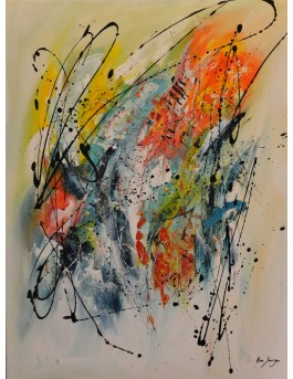 Les énergies de l'instant - tableau contemporain multicolore