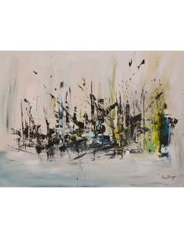 Épaves - tableau contemporain abstrait