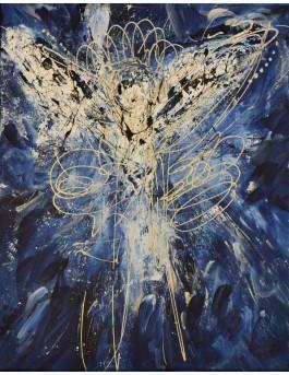 L'ange - tableau abstrait ange gardien