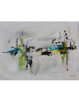 peinture abstraite style minimaliste