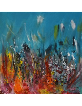 peinture moderne multicolore