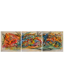 Triptyque multicolore Splash !