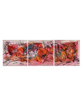Art graphique - triptyque multicolore