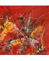 peinture abstraite moderne rouge noir