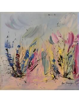 tableau abstrait pastel