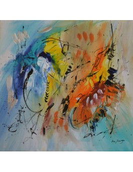 Peinture abstraite multicolore