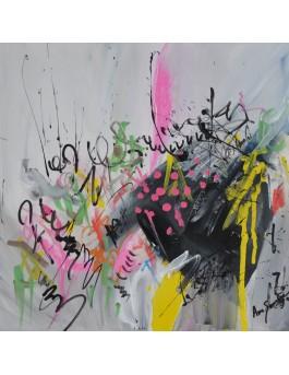 La fée artiste - tableau moderne peint à la main