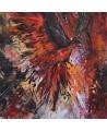 Tableau abstrait phénix phoenix
