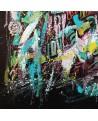 peinture abstraite sur fond noir