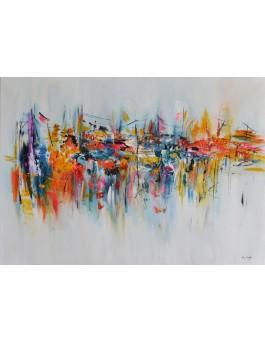 Reflets - peinture abstraite moderne colorée