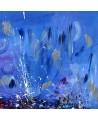 tableau bleu abstrait