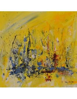 En musique - peinture abstraite moderne jaune