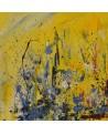 peinture abstraite moderne jaune