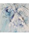 tableau abstrait bleu et blanc